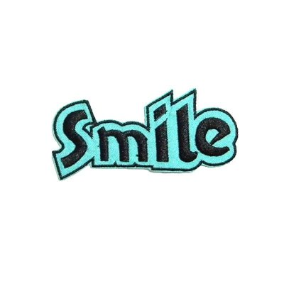 Patch Smile Azul e Preto