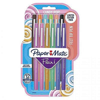 Conjunto Paper Mate Flair 12 Cores
