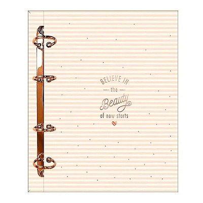 Caderno Fichário Soho Rosa Pastel