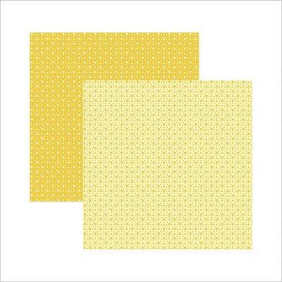 Folha de Scrapbook Amarelo Estrela