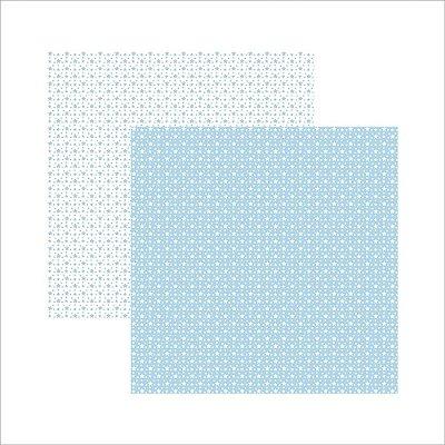Folha de Scrapbook Estrela Azul Bebê com Branco