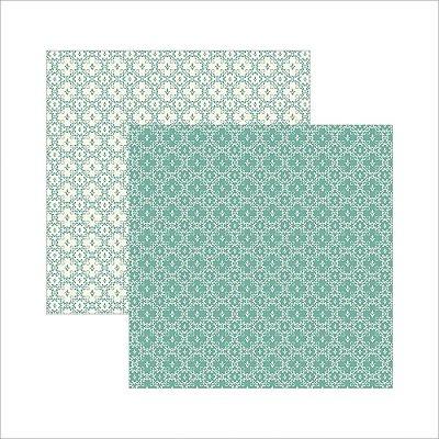 Folha de Scrapbook Clássico Verde Nobre