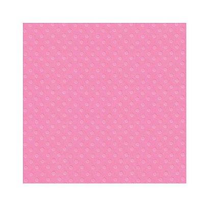 Folha para Scrapbook Cardstock Rosa