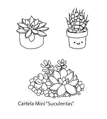 Mini Carimbo Suculentas