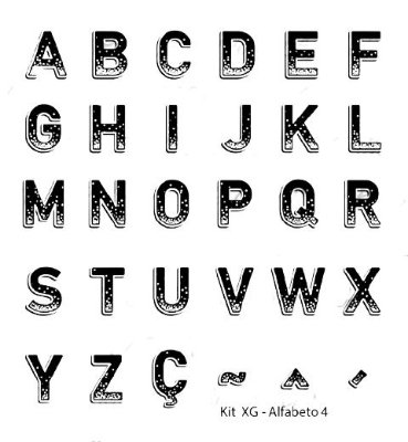 Carimbo Alfabeto Maiúsculo