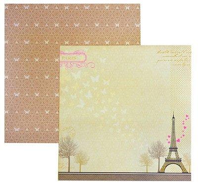 Folha de Scrapbook Paris Romance
