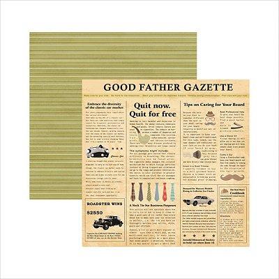 Folha de Scrapbook Família Tradicional Jornal