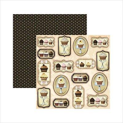 Folha de Scrapbook Fábrica de Cupcakes Tags