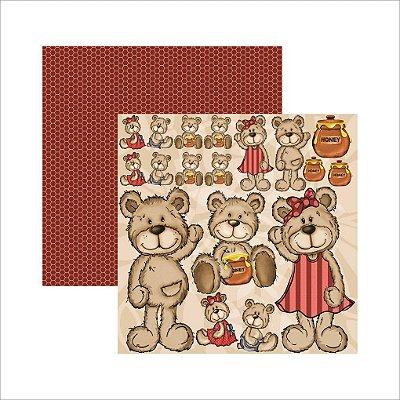 Folha de Scrapbook Meu Amigo Urso Recortes