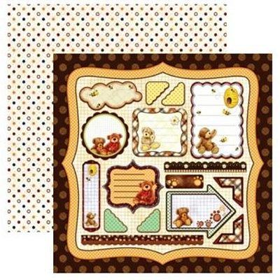 Folha de Scrapbook Urso Tags