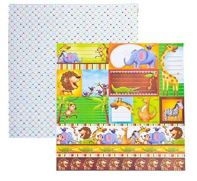 Folha de Scrapbook Zoológico Tags