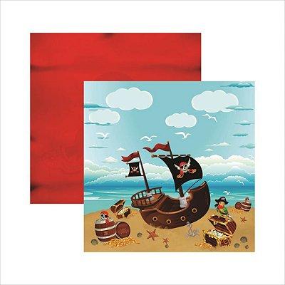 Folha de Scrapbook Piratas Paisagem