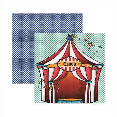 Folha de Scrapbook Palhaços Circo