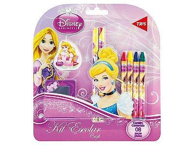 Kit Escolar Princesas da Disney 8 Peças