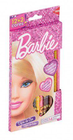 Lápis de cor da Barbie 12 Cores