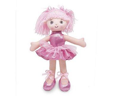 Boneca Bailarina com Glitter Rosa