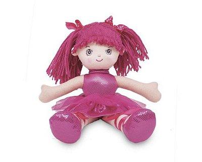 Boneca Bailarina com Glitter Rosa Pink