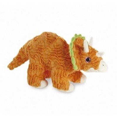 Dinossauro Triceratops Laranja