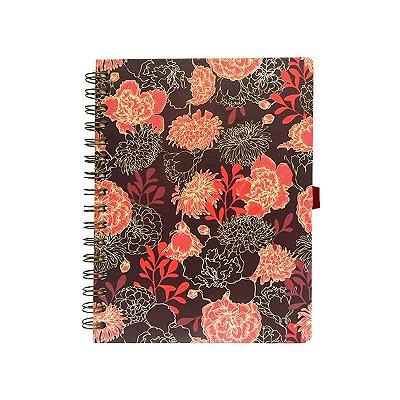 Caderno Pequeno Vermelho Escuro
