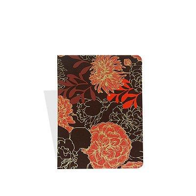 Bloquinho Floral Vermelho Escuro