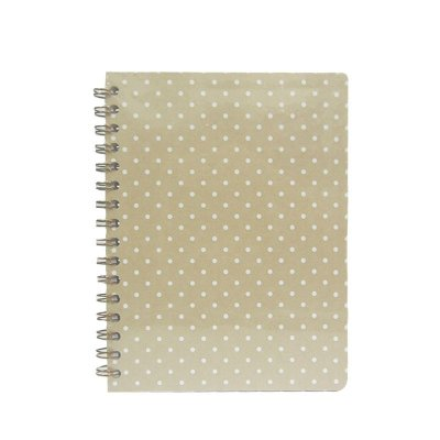 Caderno Kraft com Poá