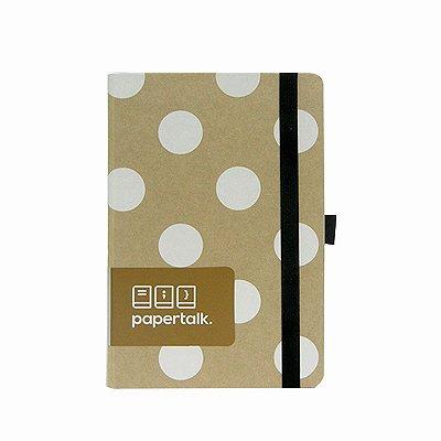 Caderno Médio Papertalk Kraft com Bolinhas Brancas