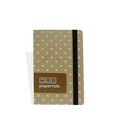 Caderninho Papertalk Kraft de Bolinhas