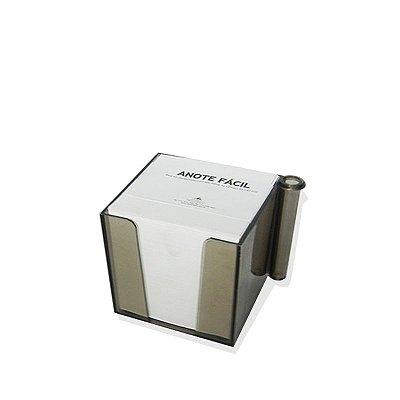 Bloco de Notas com Porta Canetas Fume 74x74mm