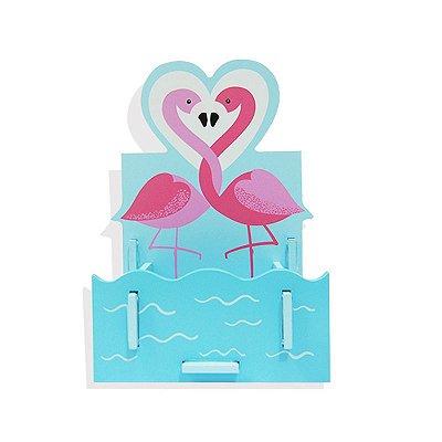 Porta-Lápis Flamingos