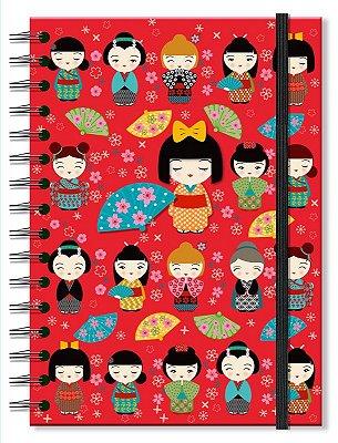 Caderno Midi Estampado Japinhas