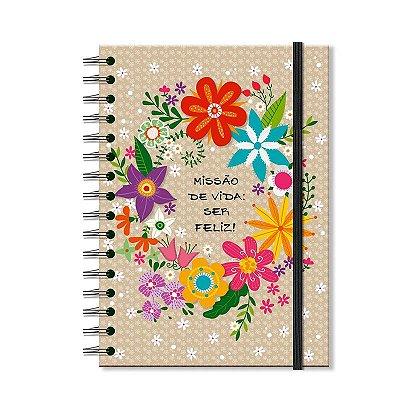 Caderno Midi Estampado Flora