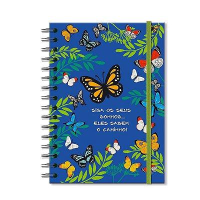 Caderno Midi Estampado Borboletas