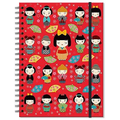 Caderno Japinhas 200 folhas