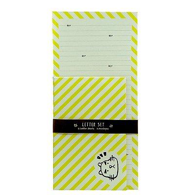Conjunto Papel de Carta Gato Amarelo