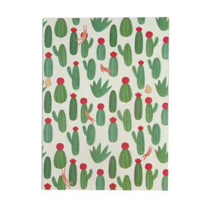 Caderninho Cactos Verde Escuros Sem Pauta