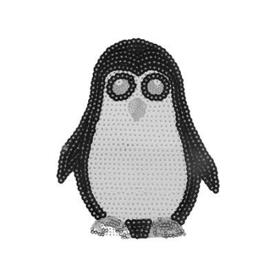 Patch Pinguim com Paetê