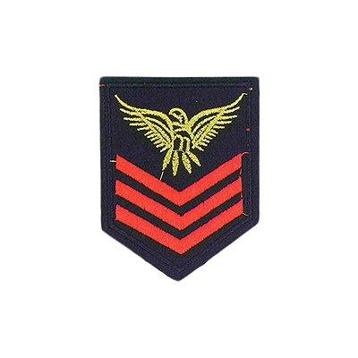 Patch Militar Preto e Vermelho