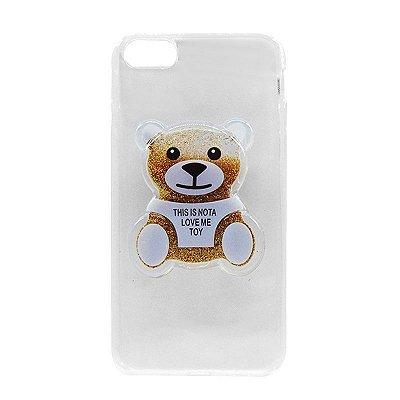 Capa Case Ursinho Dourado- iPhone 7