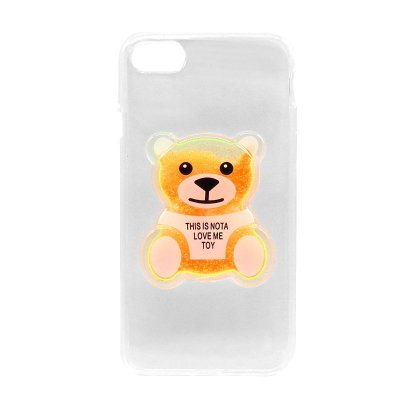 Capa Case Ursinho Laranja- iPhone 7
