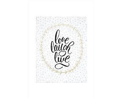 Quadro em Canvas Love Laugh Live