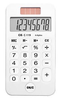 Calculadora de Bolso Branca