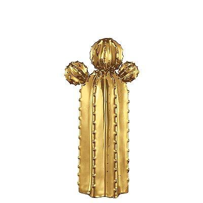 Cacto em Cerâmica Dourado M
