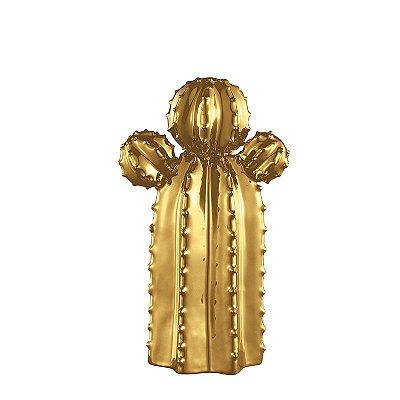 Cacto em Cerâmica Dourado P