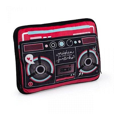 Almofada Massageadora com Caixa de Som Música Para Ouvir Juntinhos