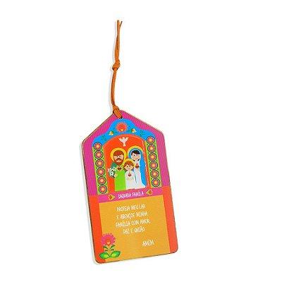 Tag de Madeira Sagrada Família