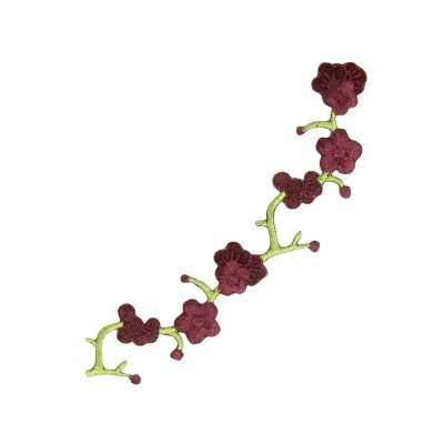 Patch Ramo de Flores Vinho