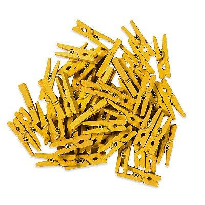 Pacotinho de Pregador Médio Amarelo