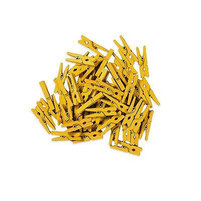 Pacotinho de Mini Pregador Amarelo