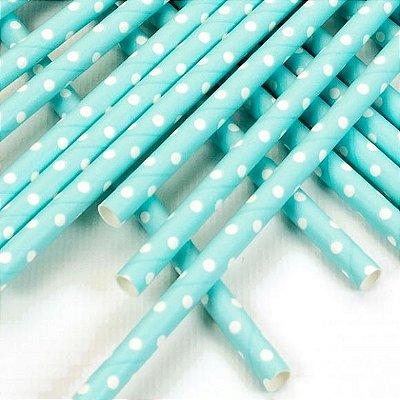 Canudo de Papel Poa Azul 20 Unidades
