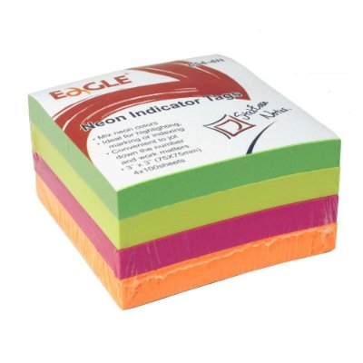 Bloco Post-It 75x75mm 4 Cores Neon